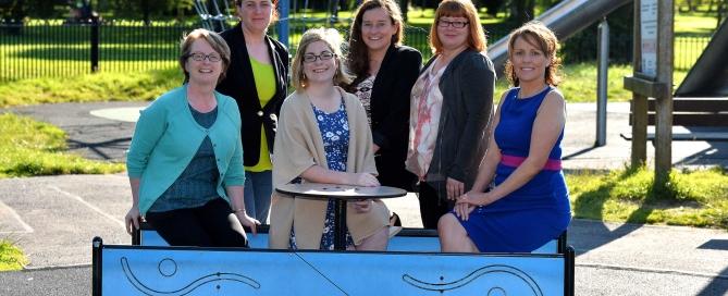 KCM Team sitting L-R Helen O'Carroll, Anne Spillane, Sarah O'Farrell, Jemma O'Connell, Claudia Kohler, Sandra Leahy
