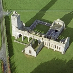 Aerial view of Ardfert Franciscan Friary, Co. Kerry, Ireland